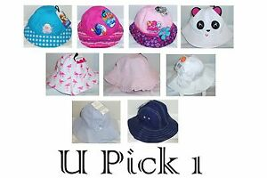 Bucket Sun Hat Wide Brim GIRLS Summer Beach Play Fun Cute Swim Water Pool Kids