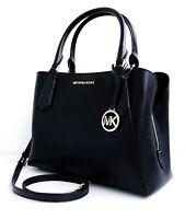 Michael Kors tasche handtasche kimberly lg ew satchel glattleder black gold neu