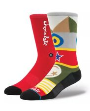 Stance Chocolate Flags Men's Crew Socks Large - XL Casual 200
