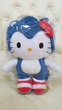 """Hello Kitty x Sonic the Hedgehog Plush Dolls Big 15"""" 38cm Sanrio 2012 SEGA NWT"""