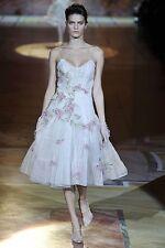 NEW Roberto Cavalli RUNWAY Dress Floral Nude Pink Rare 40 2 4