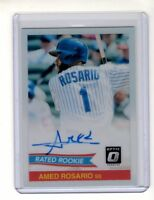 Amed Rosario 2018 Donruss Optic 84' Retro Rated Rookie Auto (New York Mets)