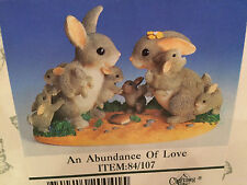 "Charming Tails ""An Abundance Of Love"" Dean Griff Rabbit Family Babies"