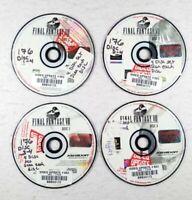 Final Fantasy VIII 8 (Black Label PS1 Sony PlayStation) Discs 1, 2, 3, 4 Set Lot