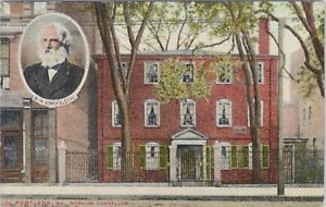 DB Mason Bros. postcard 1910, home of Longfellow, Portland, ME