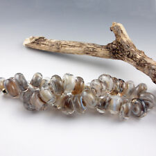 Storm Clouds - 8 Handmade Lampwork Glass Beads, SRA Artist made Beads