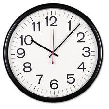 Universal Indoor/Outdoor Clock, 13 1/2', Black