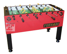 Tornado T-3000 Foosball -SINGLE goalie - RED- FREE 6 pack of Tornado Balls !