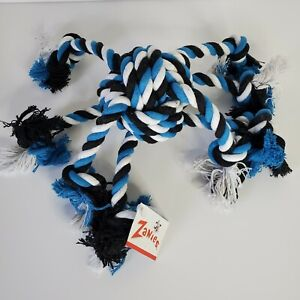 New Zanies Crazy Eight Rope Toy for Dogs Blue