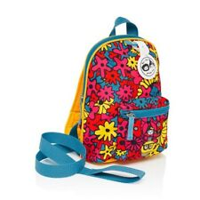 New Babymel Zip and Zoe Mini Backpack + Safety Harness/ Reins Age 1-4 years Flor