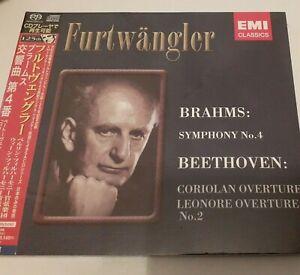 JAPAN SACD  Brahms Symphony No, 4  Beethoven Overtures Furtwangler NEU OBI OVP