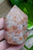 ONE (1) SUNSTONE Chunky Abstract Generator Crystal Reiki Charged *Read Below*