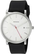 Skagen SKW6340 Hagen White Dial Black Silicone Strap Men's Watch