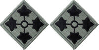 2 Pack US Army 4th Infantry Division ACU Subdued Military Patches