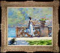 "Hand painted Original Oil painting art Impressionism girl on Canvas 20""X24"""