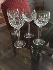 "Waterford Crystal Lismore Set of 4 Wine Hock Goblets 7 1/2"""