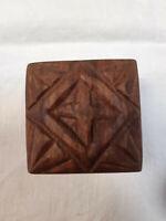 Wonderful Vintage Wood Mini Box Handmade 1970's, Decorative Vintage Mini Box.