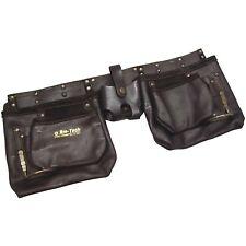 12 Pocket Heavy Duty Leather Tool Belt Pouch Carpenter Builder Oil Tanned, N1045