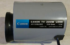 Canon TV Zoom Lens 75mm 12.5-75mm 1:1:8 J6 x 12 REA(DC) - Made in Japan