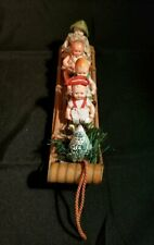 "10"" L Miniature Antique Wood Sled-4 /Celluloid Dolls-Germany-So Sweet!"