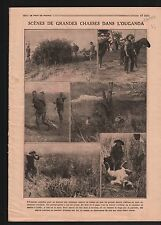 Hunter Chasseur Hunting Chasse aux Lions Ouganda Uganda Africa 1919 ILLUSTRATION