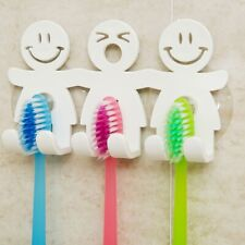 1pcs Suction Hooks 5 Position Tooth Toothbrush Sucker Cartoon Smile Cute Sets cv