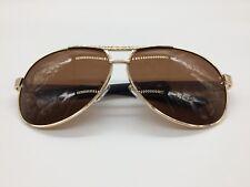 Men's 2018 Brown TAC Polarized Lenses Gold Metal Alloy Frame Sunglasses UV400