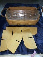 Longaberger Pantry Basket Plastic Insert Wooden Dividers