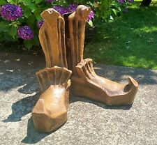 GIANT SHOES! vtg clown santa circus elf christmas store window display costume
