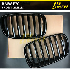07-13 Brown Carbon Style For BMW E70 X5-Series E71 X6-Series Front Grille