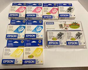 Lot Of 10 Genuine Epson Stylus Ink Cartridges Magenta Yellow Cyan Black Expired