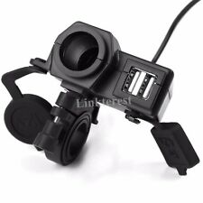 Waterproof Dual USB Port Phone GPS Socket Power Charger For Honda GROM MSX 125