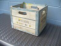 Old McMahon's Dairy Altoona Pa Jersey Creamery Detroit Adv. Milk Bottle Crate