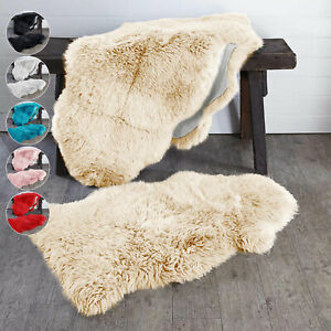 Faux Fur Large Sheepskin Rug Fluffy Mat Room Sofa Hairy Mat Shaggy Floor Carpet
