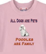 Dog T Shirt - All Dogs are Pets Poodles are Family ---Also Sweatshirt Available