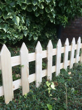 Pack Of 3 Picket Fence Panels Planed Smooth 6ft x 1ft
