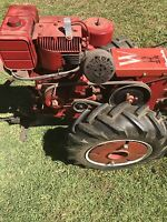 Vintage simplicity  walk behind Tractor - with Attachments