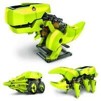 Dinosaur Robot DIY Intelligent Toy 4 In 1 Solar Powered Hot Sale Set Robot O6C0