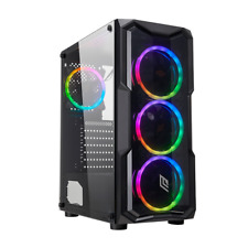 CASE GAMING ATX NOUA SMASH S2 BLACK 0.45MM 4 VENTOLE RGB CON TELECOMANDO 3XUSB