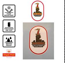 Raleigh Tomahawk Headbadge decal sticker Head Badge