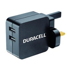 Duracell Dracusb4-uk Dual USB 2.4a Mains Charger Head Black EB