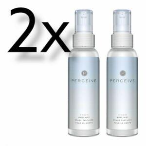 2x Avon Perfume Body Mist, Perceive, 100ml | Body Spray