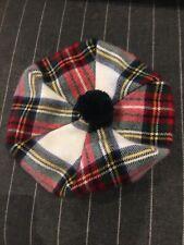 Lambswool  Tammy Hat in Stewart Dress Modern Tam Tartan Made in Scotland