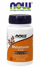 MELATONINA 3 mg - HEALTHY SLEEP CYCLE 60 VEGAN CAPSULES - RELAX - HELPS TO SLEEP