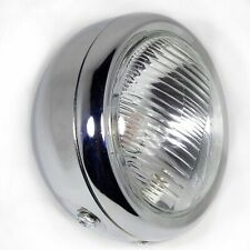 SUZUKI GN250 HEADLIGHT METAL CHROME WITH SIDE LIGHT 6.5 INCH 12V
