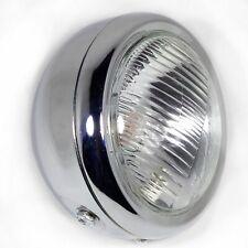 SUZUKI GN125 HEADLIGHT METAL CHROME WITH SIDE LIGHT 6.5 INCH 12V