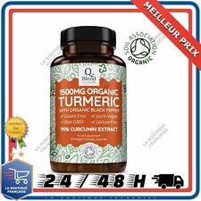 Curcuma Bio Vegan en Gelules 1500mg Extra Fort « 95% extrait Curcumin» avec P...