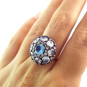 Turkish Ladies Ring Antique Handmade Jewelry Gift For Her 925 Silver 1695