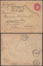 Greece 1897 - Postal stationary on registered cover to Belgium....(EB) MV-4226