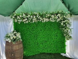 Eucalyptus Grasswall Backdrop. Vintage wedding decorations, Green wall backdrop